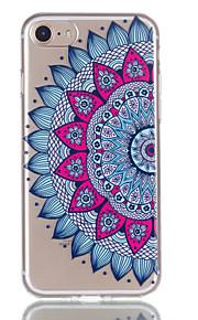 애플 아이폰 7 7 플러스 6s 6 플러스 케이스 커버 datura 꽃 패턴 릴리프 tpu 소재 퇴색하지 않습니다 전화 케이스