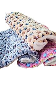 고양이 강아지 침대 애완동물 매트&패드 별 따뜨하게 유지 폴더 소프트 견고함 옐로우 블루 핑크