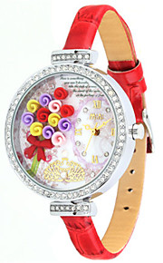 Жен. Модные часы Кварцевый Цифровой Защита от влаги PU Группа Белый Красный