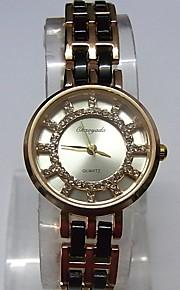 Жен. Женские Модные часы Наручные часы Часы-браслет Кварцевый сплав Группа Блестящие В точечку Повседневная Белый