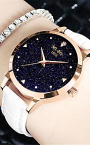 Mulheres Relógio de Moda Quartzo Impermeável Couro Banda Preta Branco Azul Vermelho Roxa