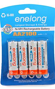 Enelong ni-mh перезаряжаемая батарея aa2100 mah1.2v aa может использоваться 1000 раз