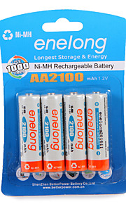Bateria recarregável enelong ni-mh aa2100 mah1.2v aa pode ser usado 1000 vezes