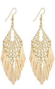Dame Dråbeøreringe Smykker Hængende Mode Vintage Boheme Stil minimalistisk stil Elegant Sølvbelagt Guldbelagt Legering Geometrisk form