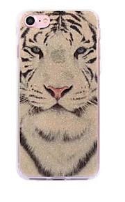 Voor apple iphone 7 7plus case cove wit tijgerpatroon flash poeder imd proces tpu materiaal telefoon hoesje iphone 6 6s plus 5s 5