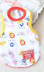 Dog Vest Dog Clothes Casual/Daily Fashion Sports Cartoon Ruby Orange