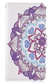 애플 아이폰 7 7 플러스 아이폰 6s 6 플러스 아이폰 5s 5 케이스 커버 만다라 꽃 패턴 pu 가죽 케이스