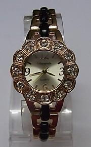 Жен. Женские Модные часы Часы-браслет Кварцевый сплав Группа Блестящие В точечку Элегантные часы Черный Розовое золото