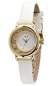 Жен. Модные часы Кварцевый Цифровой Защита от влаги Кожа Группа Черный Белый