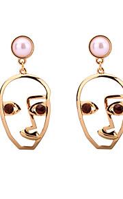Dame Dråbeøreringe Smykker Unikt design Imiteret Perle Boheme Stil Justérbar Sød Stil Strækbart luksus smykker Legering Geometrisk form