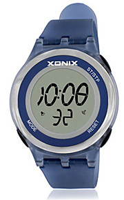 Mulheres Relógio Esportivo Digital Impermeável Borracha Banda Branco Azul Roxa
