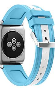 Til Apple Watch serien 1/2 38 / 42mm dobbeltfarvet blandet silikone watch band