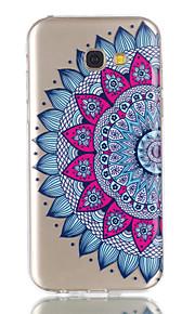 Para la galaxia a5 (2017) de Samsung de la galaxia de la caja cubierta del caso mandala patrón del alivio dijiao tpu alto material a