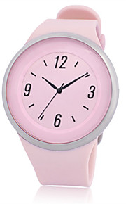 Mulheres Homens Relógio Esportivo Digital Impermeável Borracha Banda Preta Laranja Rosa
