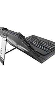 עבור במקרה ipad עם נשלף מקלדת Bluetooth גרסה אנגלית 7-8 אינץ 'אוניברסלי מילה / ביטוי קריקטורה pu מקרה עור עבור ipad mini123 mini4