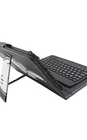 Para ipad caso com teclado removível bluetooth versão inglesa 7-8 polegadas universal palavra / frase cartoon pu couro caso para ipad