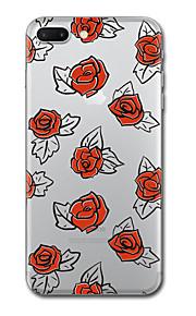 iphone 7 플러스 7 케이스 커버 투명 패턴 다시 커버 케이스 타일 꽃 소프트 tpu iphone 6s plus 6s 6 plus 6 5s 5 se