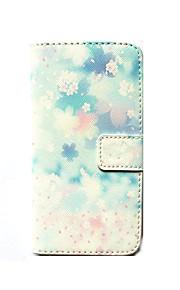 Przypadku samsung galaxy s6 obudowa pokrowiec uchwyt na karty portfel z podstawką odwróć deseń korpus przypadku kwiat twardy pu skóry