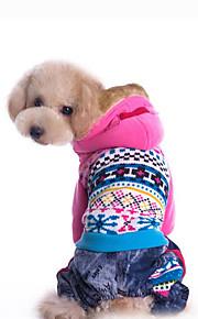 Hund Kapuzenshirts Hundekleidung Lässig/Alltäglich Geometrisch Blau Rosa