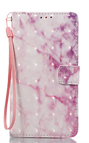 For Samsung Galaxy J3 (2017) J5 (2017) Case Cover Pink Marble Pattern 3D Painted Card Stent Wallet Phone Case For Galaxy J7 (2017)