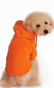Hund Kapuzenshirts Hundekleidung Lässig/Alltäglich Massiv Schwarz Orange Grau Rot