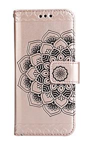 Cassa per motorola moto g4 gioco g4 custodia porta carte portafoglio flip modello goffrato pieno corpo telefono cassa mandala fiore hard