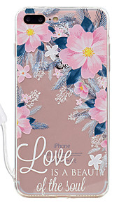 For Apple iPhone 7 7 Plus Case Cover Flower Pattern High Permeability Acrylic Backplane TPU Frame Painted Relief Phone Case For iPhone 6S 6 Plus
