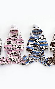 Hund Kapuzenshirts Overall Hundekleidung Lässig/Alltäglich Weihnachten Grau Braun Blau Rosa