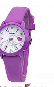 Mulheres Relógio de Moda Quartzo Borracha Banda Casual Preta Roxa Rose