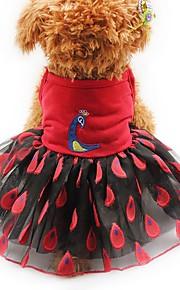 Gato Cachorro Vestidos Smoking Roupas para Cães Festa Casual Casamento Animal Amarelo Vermelho Rosa claro