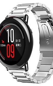Pulseira de aço inoxidável pulseira de relógio inteligente pulseira forhuami amazoda -22mm / prata