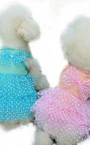 Perro Vestidos Ropa para Perro Casual/Diario Princesa Amarillo Fucsia Azul Rosa