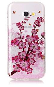 삼성 은하 a3 (2017) a5 (2017) 케이스 커버 매화의 꽃 패턴 높은 투명 tpu 소재 imd 공예 시폰 휴대 전화 케이스