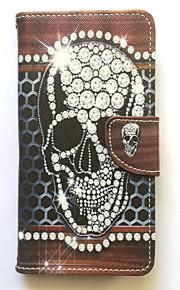 Skrzynka dla samsung galaxy grand prime prime case pokrowiec uchwyt na karty portfel z podstawką odwróć deseń pełna obudowa ciała skull