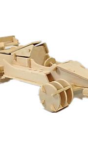 Puzzle Kit fai-da-te Puzzle 3D Costruzioni Giocattoli fai da te Auto Legno