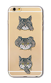 Hoesje voor iphone 7 plus 7 hoesje transparant patroon achterhoes hoesje cartoon katten zachte tpu voor apple iphone 6s plus 6 plus 6s 6