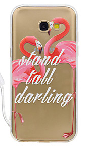 For Samsung Galaxy A3 (2017) A5 (2017) Case Cover Flamingo Pattern High Permeability Acrylic Backplane TPU Frame Painted Relief Phone Case