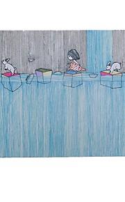 Der kleine Bruder der Kindheitserinnerungen der Kunst frische Illustrator Mausunterlage Naturkautschuk Stoff 20 * 23.8cm