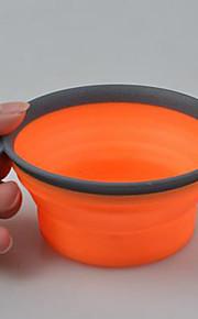 강아지 그릇&물병 애완동물 그릇 & 수유 휴대용 견고함 오렌지 퍼플