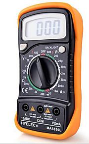 Hyelec® MAS830L DC/AC Portable Multimeter Current Voltage Resistance Measuring Digital Tester With Backlight & Case Protection