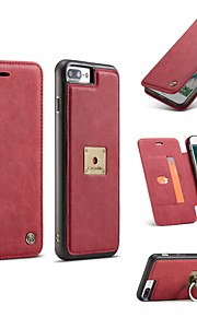Case voor iphone 7 plus 7 2 in 1 magnetische luxe echt leren telefoon telefoon portemonnee tas hoesje telefoon hoesje 6 plus 6