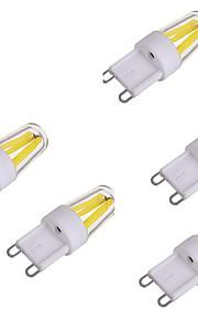 2W 2-pins LED-lampen 1 COB 150-250 lm Warm wit Koel wit AC 220-240 V 5 stuks