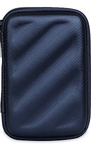 Bolsa para Adaptador de Tomada Flash  Drive Hard Drive Fones de Ouvido Côr Sólida Couro Ecológico Material