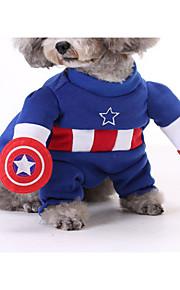 Kat Hund Kostume Hundetøj Cosplay Tegneserie Gul Rød Blå