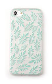 Tilfelle for eple iphone 7 pluss 7 tilfelle dekselet frostet gjennomsiktig mønster bakdeksel tilfelle blomst tre myk tpu for iphone 6s