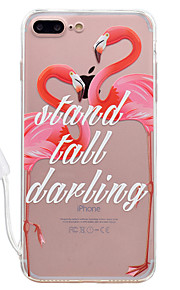 For Apple iPhone 7 7 Plus Case Cover Flamingo Pattern High Permeability Acrylic Backplane TPU Frame Painted Relief Phone Case For iPhone 6S 6 Plus