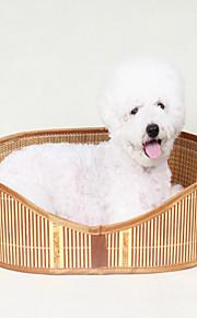 Pies Łóżka Zwierzęta domowe Koszyki Jendolity kolor Wodoodporny Przenośny Dwustronny Oddychający Składany Kolor losowy
