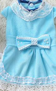 Perro Vestidos Ropa para Perro Casual/Diario Princesa Azul Rosa