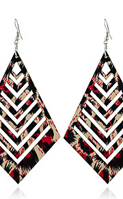 Women's Dangle Earrings Jewelry Geometric Euramerican Wood Geometric Leopard Jewelry For Gift Casual Outdoor clothing