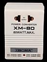 110V ~ 220V AC transformateur de puissance bidirectionnel adaptateur (80 watts max)